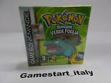 POKEMON VERDE FOGLIA (GAME BOY ADVANCE GBA) NUOVO NEW VERSIONE ITA - GAMEBOY