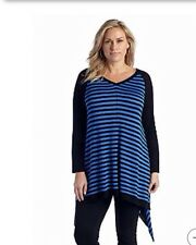New Directions® Women Plus Size Clothes 3X Sharkbite Hem Tunic Top Shirt