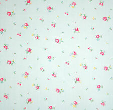 vintage 1940s unused tiny rosebud print soft cotton dress fabric long length 3m