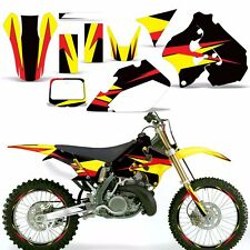 Decal Graphic Kit Suzuki RM 250 RM250 Dirt Bike Number Backgrounds Deco 96-98 XX