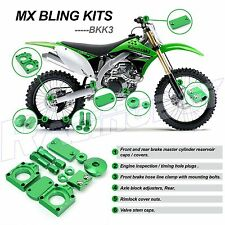 KAWASAKI KX450F 2009 10 11 12 2013 GREEN BLING KIT KX250F 2008 2009 2010 KLX450