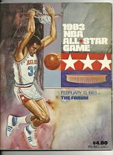 1983 NBA All Star Game Program LA Great Western Forum