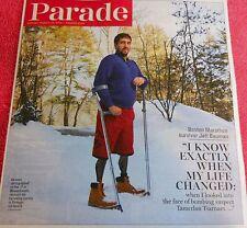 PARADE MAGAZINE MARCH 2014 BOSTON MARATHON SURVIVOR JEFF BAUMAN