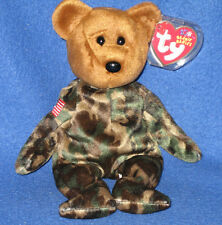 TY HERO the USA BEAR BEANIE BABY - FLAG on ARM - MINT with MINT TAGS