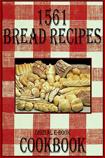 1561 Delicious Bread Recipes E-Book Cookbook CD-ROM