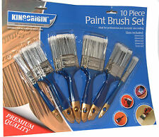 10 Paint Brush Set Painting Paintbrushes Easy Clean No Hair Loss
