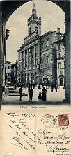 Foligno, perugia,  palazzo comunale, animata 1919