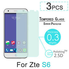 3 Pcs 9H Tempered Glass Screen Cover Protector Film For 5 inch ZTE Blade S6