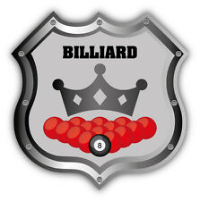 "Billiard Emblem Pool Car Bumper Sticker Decal 5"" x 5"""