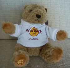 Hard Rock Cafe AYIA NAPA HRC CLASSIC Teddy Bear PLUSH with TAG BRAND NEW!!