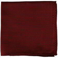 New men's polyester woven striped burgundy hankie pocket square formal wedding