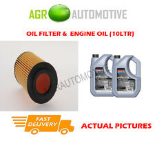DIESEL OIL FILTER + SS 10W40 OIL FOR LAND ROVER FREELANDER 2.0 111BHP 2000-06