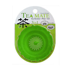 Supreme Green Tea Strainer Plate & Lid 3-in-1 Infuser For Cups Mugs Silicone Eco
