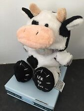 RARE ME TO YOU ANIMAL TATTY TEDDY BEAR ON BOX - DRESS UP - COW