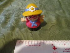 Fisher Price Little People Maggie Girl Lady Mom Garden Basket Straw Hat  Market