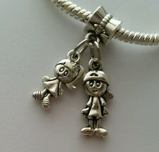 Little Boy Girl Son Daughter Kids Twins Dangle Bead for European Charm Bracelet
