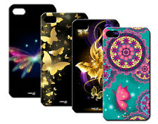 IPM CUSTODIA COVER CASE FARFALLA NEON ORO BUTTERFLY PER iPHONE 4 S 4S