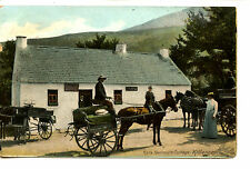 Horse Carts-Kate Kearney's Cottage-House-Killarney-Ireland-Vintage Postcard