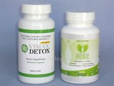 Vimax Detox Colon Cleanser & Garcinias Pure Cambogia 60% HCA Weight Loss