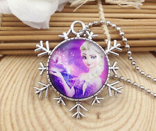 Hot FROZEN PENDANT Silver Plated CHAIN NECKLACE ROYAL PRINCESS Y3