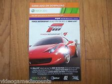 Forza Motorsport 4 DLC Code Xbox 360 Bonus Track & Car Pack - TRUSTED SELLER!