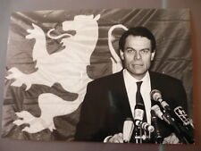 PHOTO DE PRESSE MICHEL NOIR 1989 A LYON ELECTIONS MUNICIPALES
