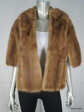 VINTAGE MINK Soft Blonde Autumn Haze Mink Fur Stole Cape Shrug Wrap Plush