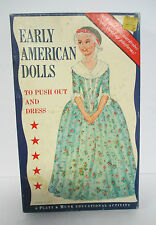 1963 EARLY AMERICAN DOLLS, 4 Paper Dolls in Box