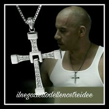 FAST and FURIOUS Vin diesel Dominic Toretto's CROSS Croce collana Necklace 7