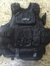 GXG Gen X Paintball Airsoft Tactical Adult Vest With 4 Proto Tubes.