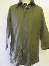 "BARBOUR a200 Border WAXED JACKET-M 38"" EURO 48 o 14 Regno Unito in verde"