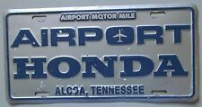 1990's ALCOA, TENNESSEE AIRPORT HONDA DEALERSHIP BOOSTER License Plate
