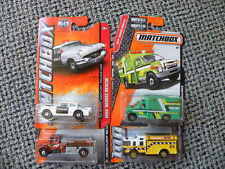 FOUR DIFFERENT  FIRE, RESCUE AND POLICE     MATCHBOX   1:64 DIE-CAST LOT
