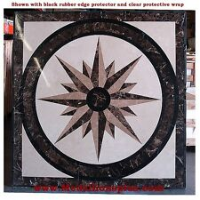 "36""  FLOOR MEDALLION SQUARE TILE WATERJET POLISHED MARBLE  STONE TILE INLAYS"