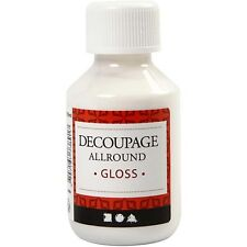 Decoupage Lacquer Gloss 100ml - Glue Varnish - Craft Wood Card Decorate Glossy
