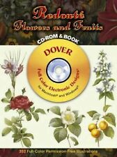 Redouté Flowers and Fruits CD-ROM and Book (Dover Electronic Clip Art), Pierre-J