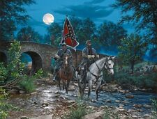 """Gettysburg Moon"" John Paul Strain Civil War Fine Art Executive Canvas Giclee"