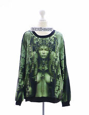 TY-Y005 Robot Metall Techno Girl Rock Punk Sweatshirt Pullover Japan Harajuku