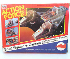 Action Force S Force Triad Fighter + Captain Vintage BOXED Palitoy UK Exclusive
