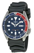 NEW Seiko Automatic Men's Diver Watch Black Rubber Strap Blue Dial SKX009K1