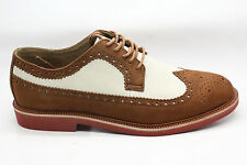 Polo Ralph Lauren Mens Torrington Wingtip Oxford Tan Brown and Ivory Size 10 M