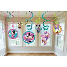 12 pc Disney Minnie Mouse Hanging Swirls Birthday Decorations Party Supply Favor