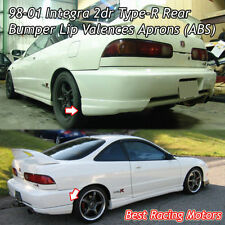 Type-R Style Rear Bumper Lip Aprons (ABS) Fits 98-01 Integra 2dr