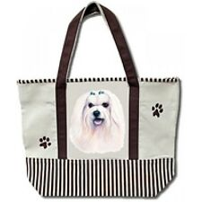 Maltese Large Canvas Tote Bag Shopping Beach Dog Puppy Pet Christmas Gift Xmas