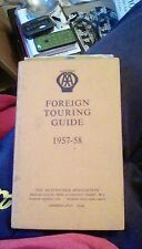 Vintage book- Foreign Touring Guide 1957-58
