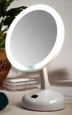 Incandescent Lighted Vanity Mirror, Floxite Fl-10jh, 10x, Pearl, New