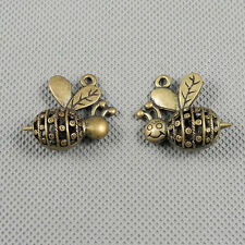 1x Jewelry Making Pendant Vintage Retro Findings Bronze Charms A16924 Hollow Bee