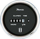 Faria Boat Hour Meter Gauge Chesapeake SS Black Instrument Inboards FAR 13713