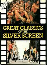 GREAT CLASSICS OF SILVER SCREEN, rare US hardcover in DJ Hollywood movies horror