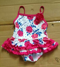 Infant Baby Girls Swimwear Rose Floral One Piece Swimming Costume 6-9Month